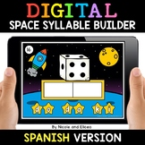 Spanish Syllable Space Word Work for Google Classroom - Di