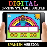 Spanish Syllable Spring Word Work for Google Classroom 2 -