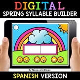 Spanish Syllable Spring Word Work for Google Classroom - D