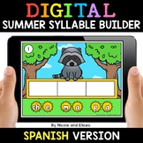 Spanish Syllable Summer Word Work for Google Classroom 2 -