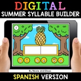 Spanish Syllable Summer Word Work for Google Classroom - D