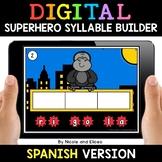 Spanish Syllable Superhero Word Work for Google Classroom