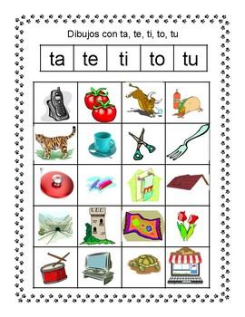 Spanish Syllable Tt Word Sorts