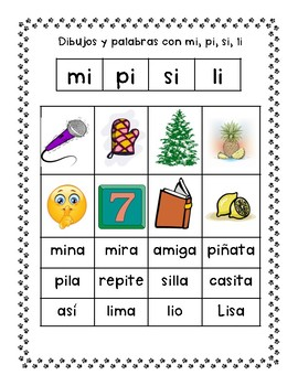 Spanish Syllable Vowel Ii Word Sorts