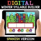 Spanish Syllable Winter Word Work for Google Classroom 2 -