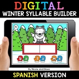 Spanish Syllable Winter Word Work for Google Classroom - D