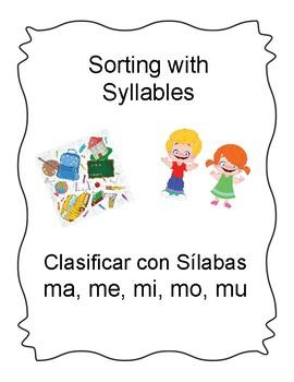 Spanish Syllable Word Sort