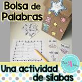Spanish Syllable games (Juego de silabas)- Bolsa de Palabras