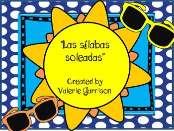 Spanish Syllable games: Las Silabas Soleadas, Bingo, Gameboards and more!