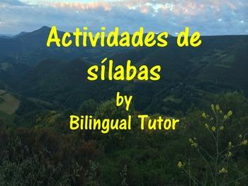 Spanish Syllables, Flash Cards & Blends/Sílabas y tarjetas (Bundle)
