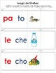 Spanish Syllables Game! 30 words & auto-check with pictures. Ideal for Centers!