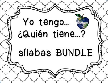 Spanish Syllables - I Have Who Has Syllable Bundle