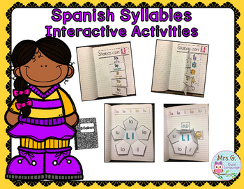 Spanish Syllables Interactive Activities