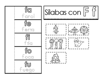spanish syllables interactive activities by mrs g dual language tpt. Black Bedroom Furniture Sets. Home Design Ideas