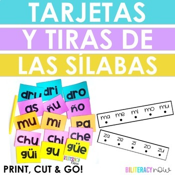 Spanish Phonics Syllable FLASHCARDS! Includes silabas trabadas 160+!