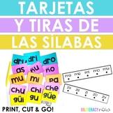 Spanish Phonics Syllable FLASH CARDS & STRIPS! Includes silabas trabadas 160+!