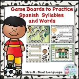 Spanish Syllables Practice Soccer Themed Game Boards