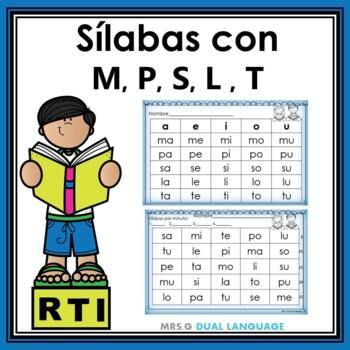 Spanish Syllables RTI Activities