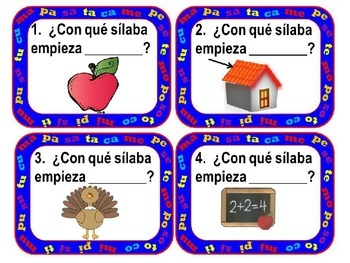 Scoot: Spanish Syllables con sílabas M, P, S, T y C - Marcharse