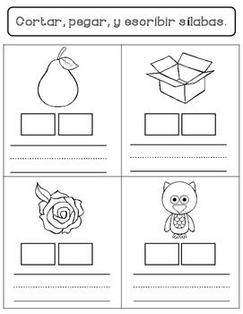 Spanish Syllables Worksheets