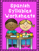 Spanish Syllables Worksheets