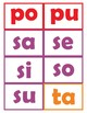 Spanish Syllables *flashcards all syllables in color and black and white