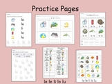 Spanish Syllables - la le li lo lu - Practice pages