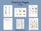 Spanish Syllables - ta te ti to tu practice pages