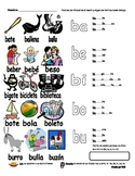 Spanish Syllables with B