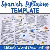 Spanish Syllabus Template