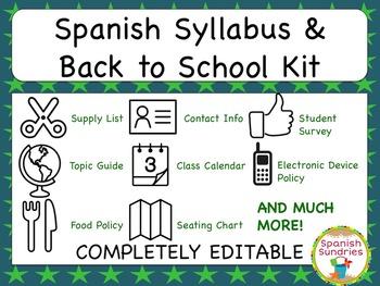 Spanish Syllabus & Back to School Kit