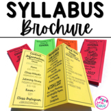 Spanish Syllabus Brochure (*EDITABLE*)