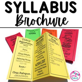 Spanish Syllabus Brochure (*EDITABLE*)