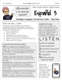 Spanish Syllabus - EDITABLE