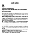 Spanish Syllabus and Classroom Expectations