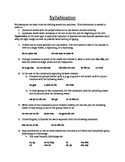 Spanish: Syllibication Notes
