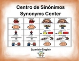 Spanish Synonyms / Sinónimos in a Station / Center Activity