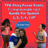 Spanish TPR Stories and Comprehensible Input Mega Bundle for Levels 1-AP