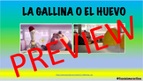 Spanish TPRS- La Gallina o El Huevo Story/Movie Talk/ Game