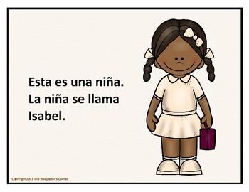 Spanish Story Freebie - Isabel va a la escuela