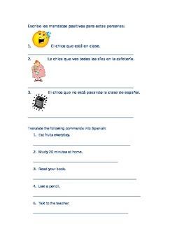 Spanish TU Form Commands Practice