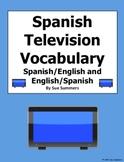 Spanish TV / Television Vocabulary - 42 Words - Tele / Televisión