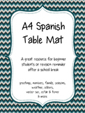 Spanish Table Mat- A4