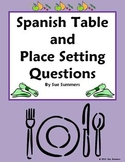 Spanish Table and Place Setting Sentences
