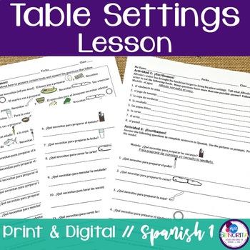 Spanish Table Settings Lesson