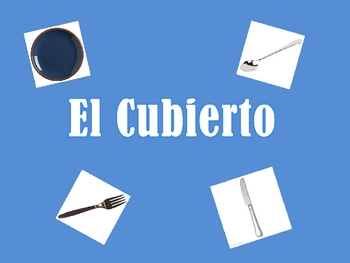 Spanish Table Setting (utensils) Vocabulary Powerpoint