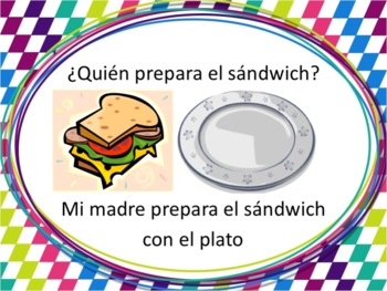 Spanish Table Settings, Food, and Kitchen Verbs Powerpoint