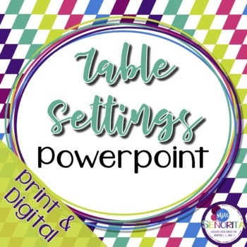 Spanish Table Settings Powerpoint