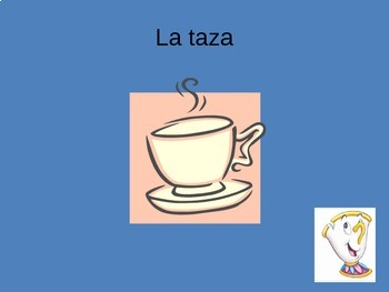 Spanish Table/Place Setting Vocabulary Power Point ppt