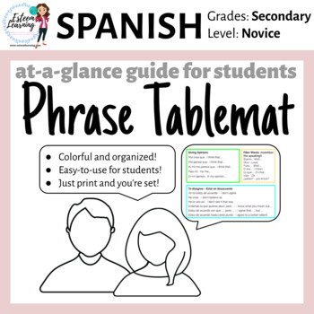 Spanish Table Mat - Speaking Phrases for Participation - FREE